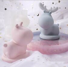3D Silicone Elk Mold Deer Mold Resin Crystal Epoxy DIY Decor Soap Candle Mould
