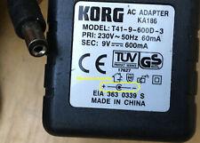 Korg KA-186 T41-9-600D-3 A30950B A30960J A9600B Power Supply Mains Adapter