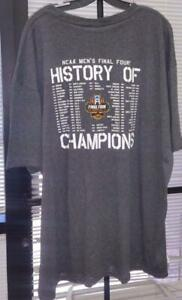 NCAA FINAL FOUR CHAMPIONSHIP SHIRT 2017 - HISTORY of CHAMPIONS - GRAY - 3XL
