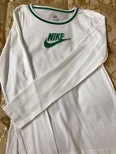 T-shirt Donna Ragazza Sport Bianco Nike Maglietta Maglia Verde Bambina Cotone