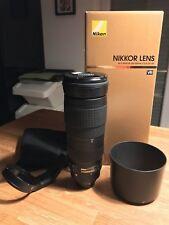 Nikon Nikkor 200-500 mm f5.6 VR AF-S ed objetivamente-como nuevo-en su embalaje original, accesorios