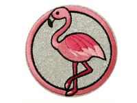 XL Patch Flamingo rosa Paar mit Pailletten Bügelbild Applikation Vogel