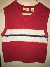 The Limited America Size M Sleeveless Red/white/blue Sweater Vest