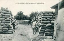 CPA ALGERIE OUED IMBERT ENTREPOTS MOULIN ET BLANCHARD (cpa industrie RARE