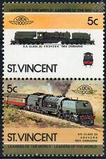 1954 Beyer-Garratt Class 20 Rhodesian Railways Train Stamps / LOCO 100