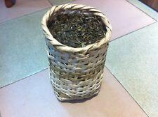 Pu Erh black tea unfermented, Grade A 1000 gram in bamboo basket packing