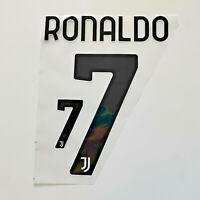 2019 2020 JUVENTUS RONALDO HOME NAME SET SERIE A lettering Iron on HOME jersey