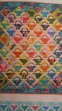 Quilt Kit Hawaiian Rainbow Baskets Batiks Hawaii fabric piecing machine applique