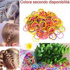 5 pacchetti 200 mini elastici capelli colorati bambine treccine braccialetti