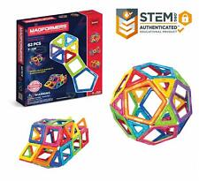 Magformers Basic Set 62-Pieces Magnetic Building Blocks, Educational Magnetic