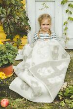 Baby Blanket Quilt Swaddle 100% Wool 90x130cm Girl Boy Kids Cozy Soft Warm Bear