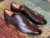 Allen Edmonds Park Avenue Burgundy Cap Toe Dress Oxfords Size 9.5D