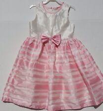 Jayne Copeland Girls Dress Pink & Ivory Size 6 Dressy Formal Excellent Condition