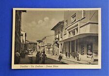 Cartolina Postcard Piombino Livorno Via Lombroso Cinema Odeon