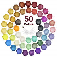 Mica Powder - 50 Colors Epoxy Resin Pigment Natural Soap Dye, Metallic Glitter