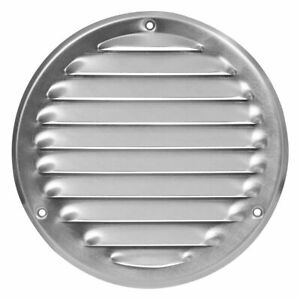 Aluminium Round Air Vent Grille 125mm / 164mm with Fly Screen Flat Duct Cover