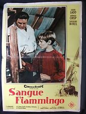 LOCANDINA CINEMA - SANGUE FIAMMINGO - D. LADD - 1959 - AVVENTURA