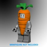 Brick Loot 2 Lot Custom Carrot Suit Costume for YOUR LEGO ® Minifigure