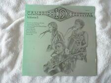 19th Cambridge Folk Festival Volume 1 rare vinyl LP plays VG+ Fureys Alexis Korn