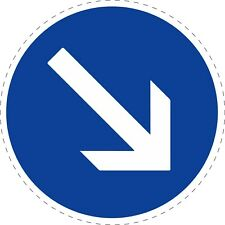 Traffic Signs Keep Right Road Safety Adhesive Sticker 150mm x 150mm TR097