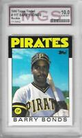 Graded 1986 TOPPS TRADED BARRY BONDS MGS 10 GEM MINT #11T ROOKIE CARD