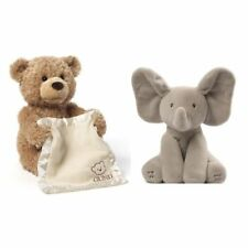 Gund Animated Flappy The Elephant and Peek-A-Boo Bear Bundle