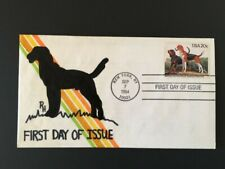 Dogs, Hand painted, American Foxhound, 1984 First Day of Issue