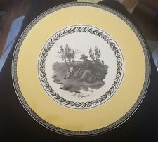 Villeroy & Boch Salad Plate Audun CHASSE Spring French Country scene 1 left