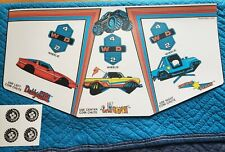 Bally Midway Power Drive Arcade Control Panel Overlay wheel stickers