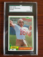 1981 Topps Football Joe Montana ROOKIE RC #216 SGC 70 = PSA?