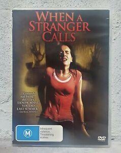 When A Stranger Calls DVD - Camilla Belle RARE THRILLER - REG 4
