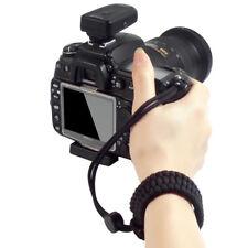 Black Adjustable DSLR Camera Wrist Strap Braided Cord For Nikon D3400 D5600 A10