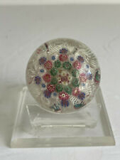 """""""As Is"""" Antique Millefiori Cane Art Glass Paperweight Sandwhich Glass 19thC 2"""""""