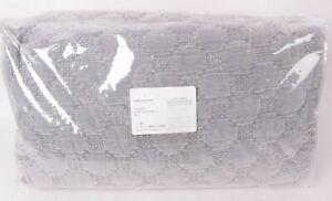 Pottery Barn Velvet Lattice King quilt, mirage gray