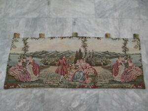 7066 - Old French / Belgium Tapestry Wall Hanging - 153 x 58 cm