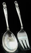 Meriden Brittania Sterling Silver Salad Servers, American Hand Made, c.1915