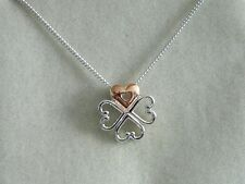 Clogau Silver & 9ct Rose Welsh Gold Affinity Heart Pendant RRP £139.00