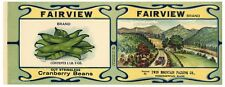 FAIRVIEW Brand, Norridgewock, Maine *AN ORIGINAL 1900's TIN CAN LABEL* wear M32