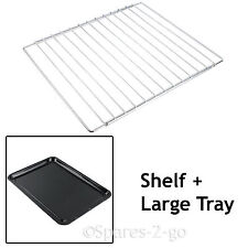CANDY Adjustable Chrome Oven Cooker Grill Shelf & Large Enamel Baking Tray