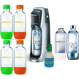 SodaStream Fountain Jet Soda Maker Black w/ Exclusive Kit 6 Bottles