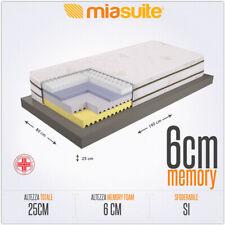 MATERASSO SINGOLO 80X190 CM ALTO 25 CM SFODERABILE MEMORY + GEL + WATER MELODY