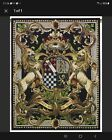 RAMPANT LION AND CROWN ROYAL FRENCH CREST TAPESTRY