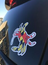 Maryland State MD Flag Crab Vinyl Stickers Decal Baltimore Ocean City Shore