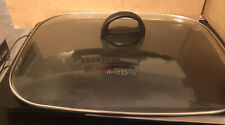 "West Bend Electric Skillet Glass Cover /  Lid 14"" X 11"""