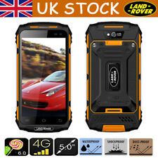 4G LTE Rugged Land Rover X2 Smartphone IP67 Android 2GB+16GB Mobile Phone Yellow