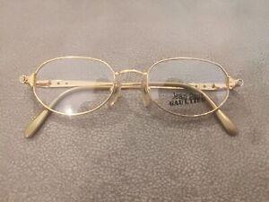 Jean Paul Gaultier JPG Vintage OVAL Eyeglasses 56-7205 GOLD GP 48-19 Last One !