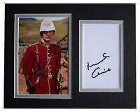 Michael Caine Signed Autograph 10x8 photo mount display Zulu Film AFTAL COA