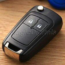 2 Button Remote Flip Key Fob Case + Uncut Blade For Vauxhall Opel Astra Insignia