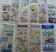 NEW 4 pc GETAWAY Beach Sand Umbrella Seashells Vacation JOLEE/'STitle 3D Stickers