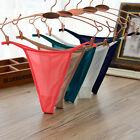2x Mesh Briefs Lingerie G-string Thongs Womens Knickers Panties T-Back Underwear